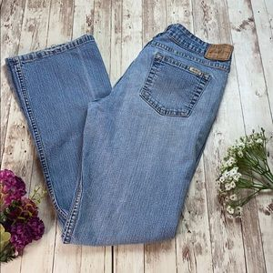 Levi Strauss low rise boot cut jeans
